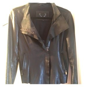 Bod & Christensen S black leather moto jacket 🤩